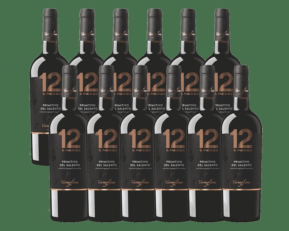 Varvaglione 12 e mezzo Primitivo Liebhaberset 12 Flaschen