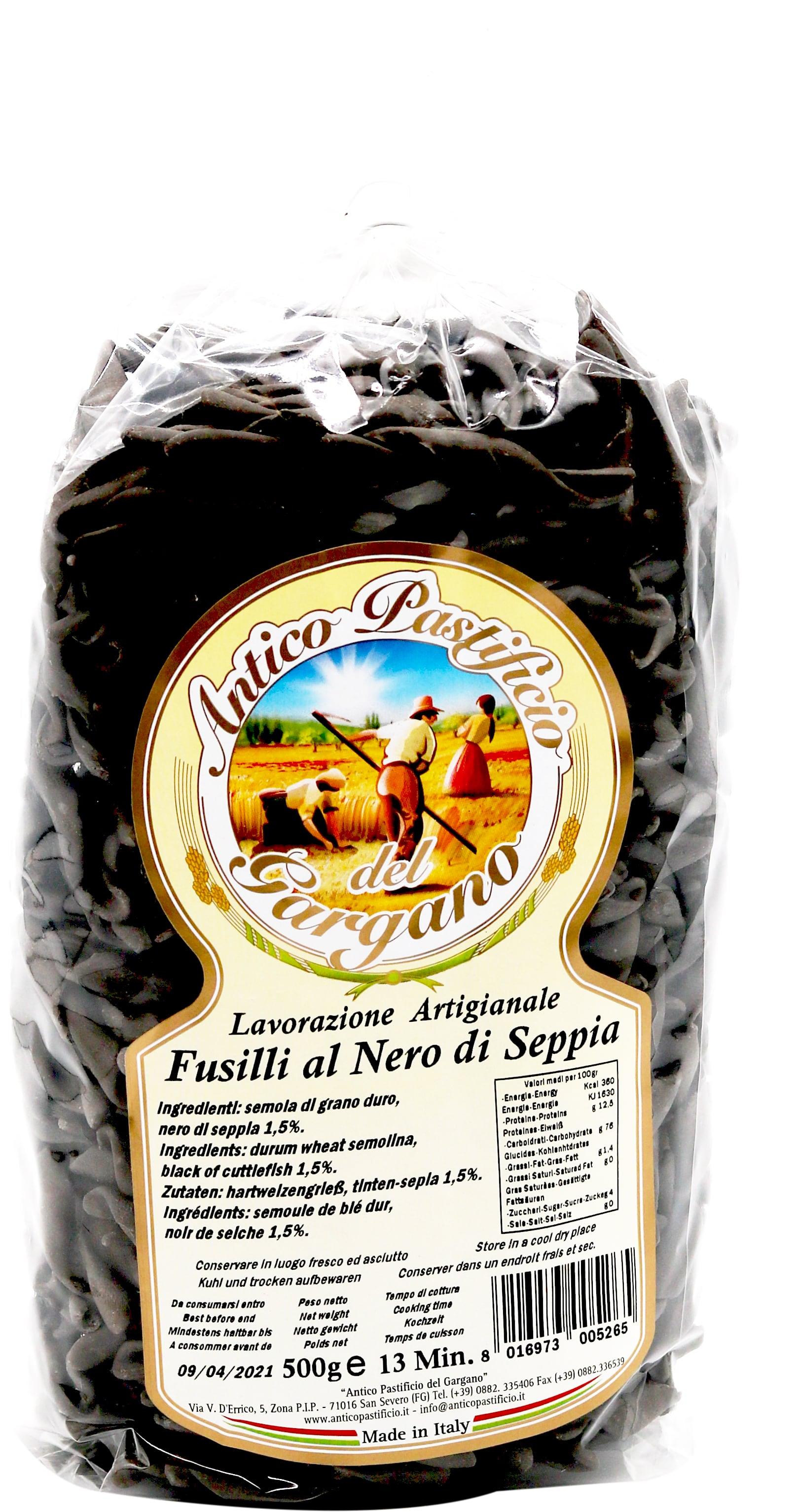 Antico Pastificio del Gargano  Fusilli Nero di Seppia 500g